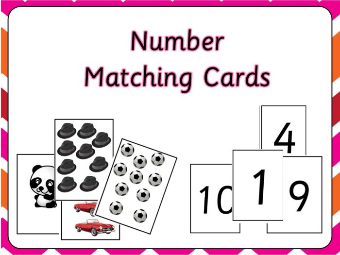Number and Picture Cards 1-20