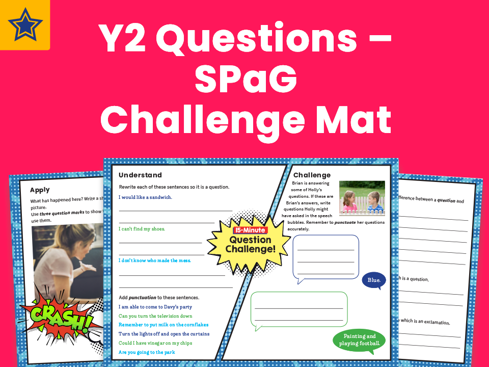 Y2 Questions – SPaG Challenge Mat