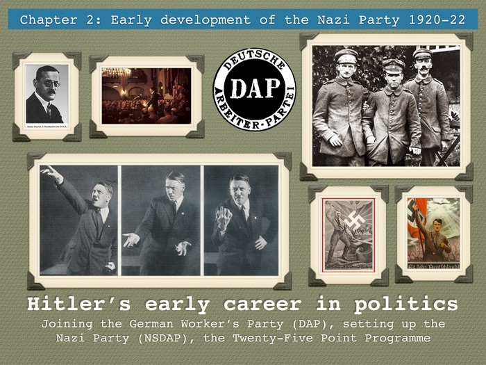 GCSE Weimar Republic Unit 2 Hitler's early career in politics