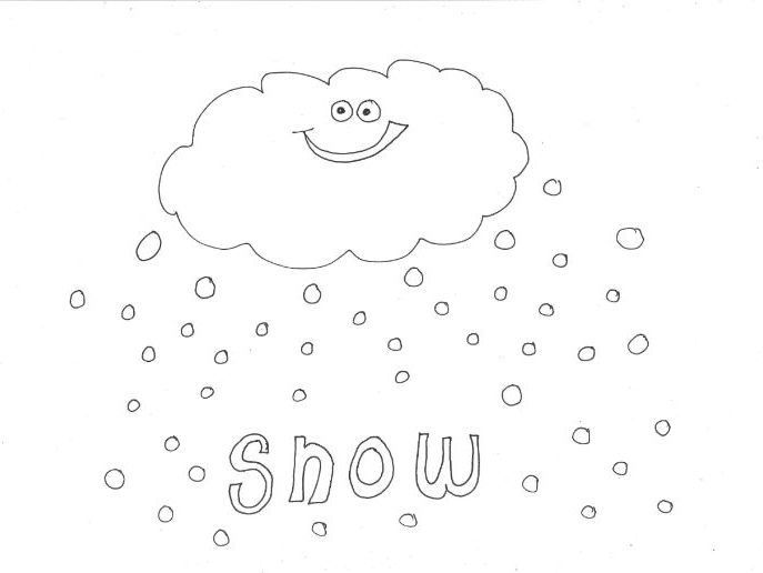 Snow: WEATHER Colouring Page