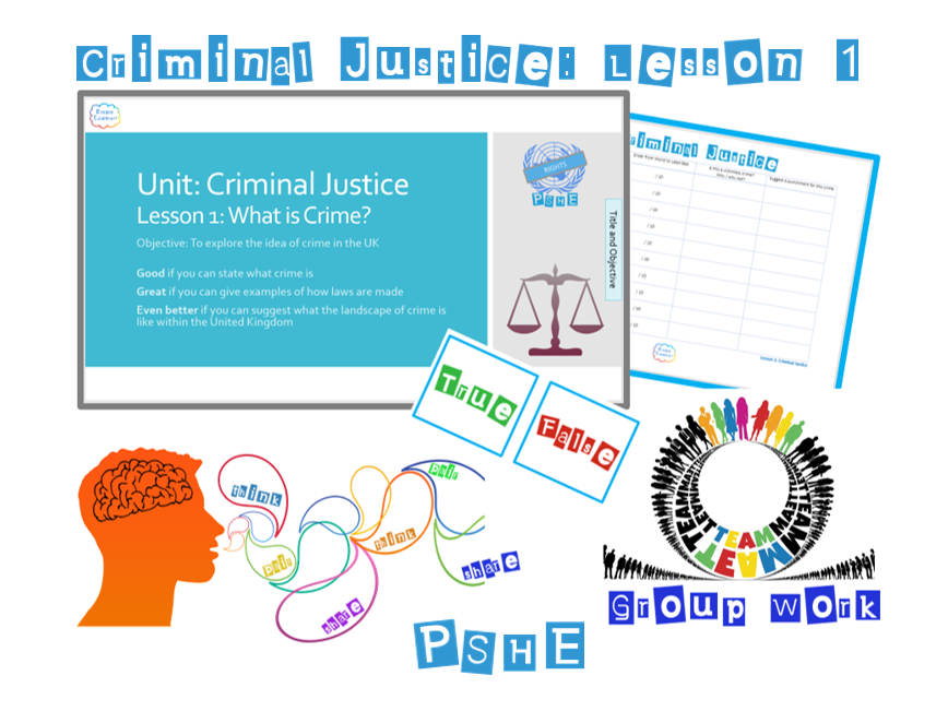 PSHE Criminal Justice: Lesson 1 - What is Crime? Whole Lesson
