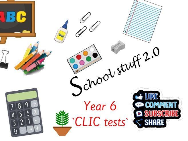 Y6 Big maths CLIC tests