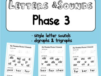 Letters and Sounds Program - Activity Book Phase 3 - read write colour
