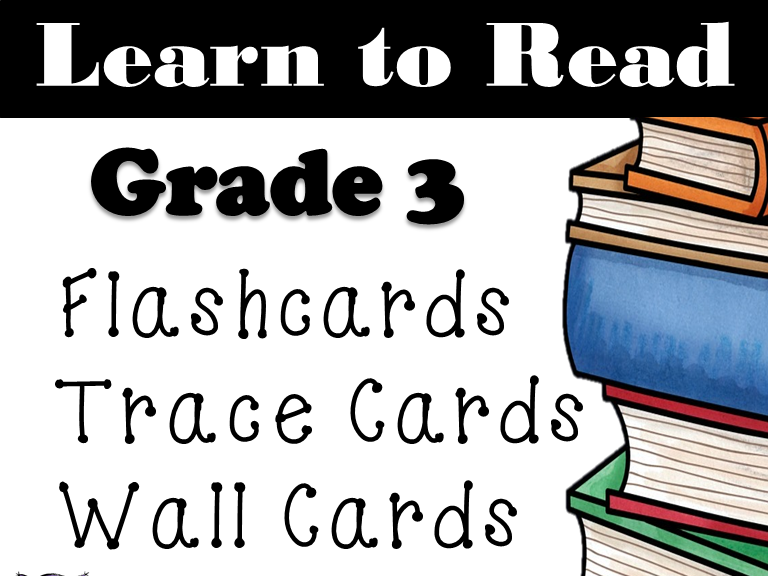 Grade 3 Dolch Words: Word Wall: Word Trace: Dolch Word Flashcards: Sightwords