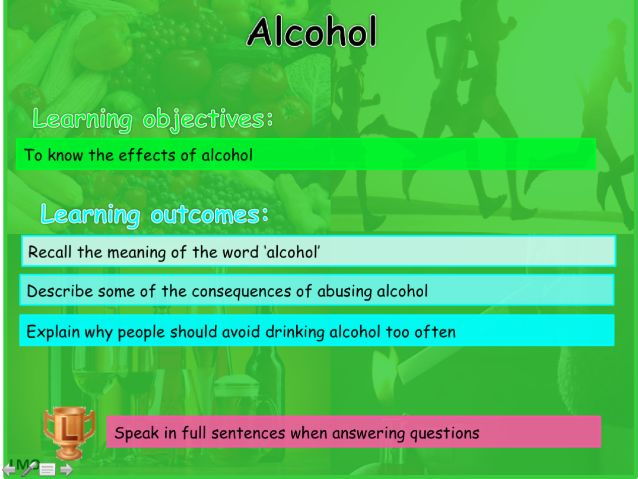 Healthy Lifesyles: Alcohol