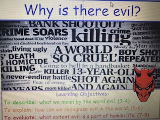Year 9 Unit of Learning - Why is there evil?