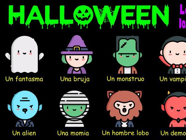 Spanish KS3 - Halloween interactive activities in Spanish