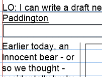 Paddington Film KS2 Newspaper report and review writing