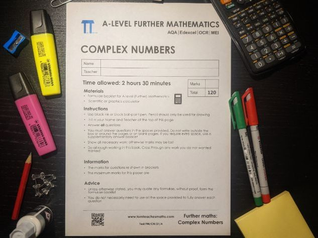 Complex Numbers Exam paper