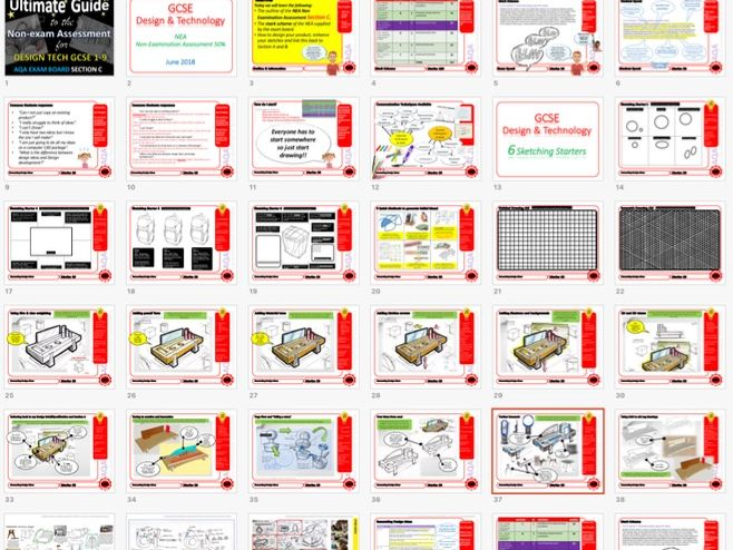 Ultimate Guide to AQA DT GCSE NEA Generating Design Ideas Section C Teacher's guide + Videos