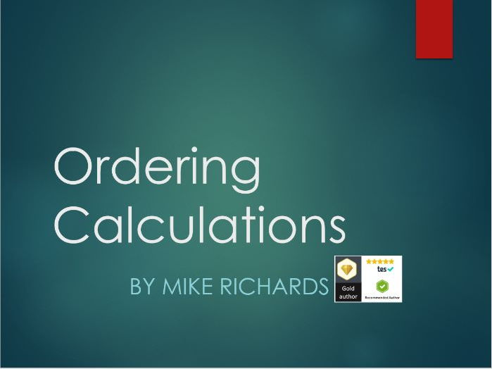 Ordering calculations using BODMAS - a powerpoint presentation
