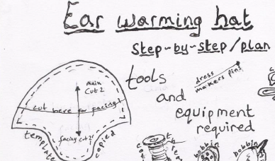Ear warming hat step-by-step