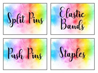 Watercolour Teacher Toolbox/Toolkit Labels