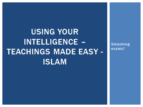 Simple teachings for GCSE RS ethics-based Themes - Islam