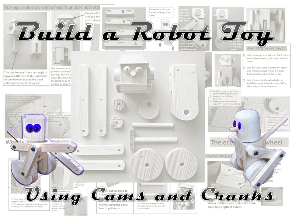 Build a robot toy using cams and cranks