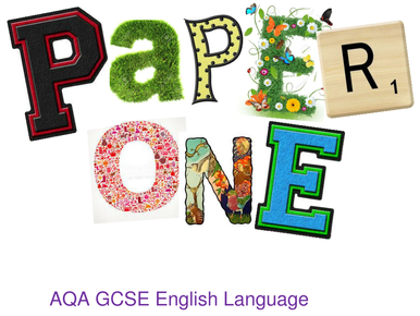 AQA GCSE Language  Paper 1 revision guide with modeled examples