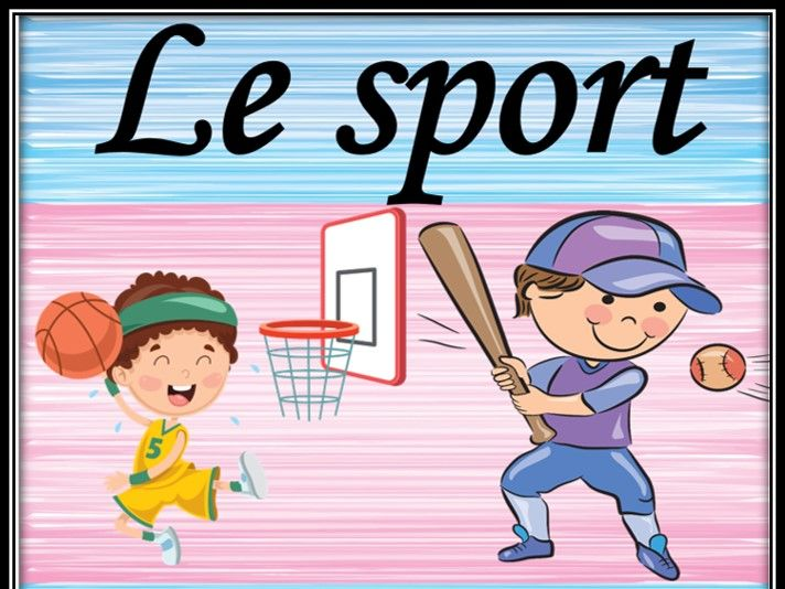 Sport equipment. in French.  Audio vocabulary.