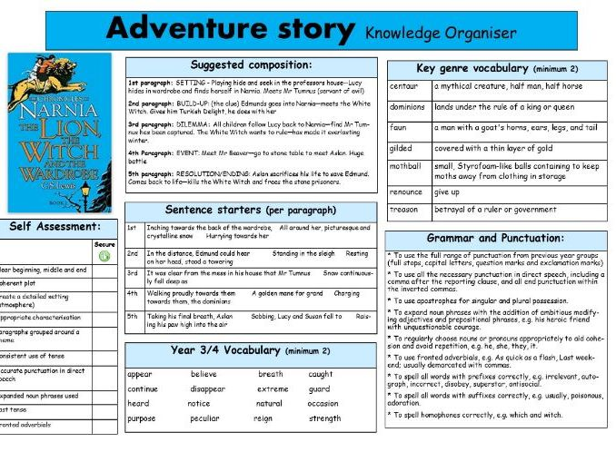 Fantasy Narrative Knowledge Organiser based on The Lion, the Witch and the Wardrobe