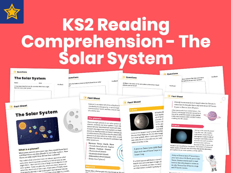 KS2 Reading Comprehension Worksheets – The Solar System