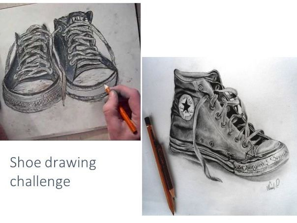 Draw your own shoe art activity (suitable for home learning)