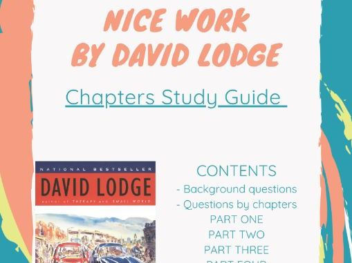 Nice Work by David Lodge - Study Guide