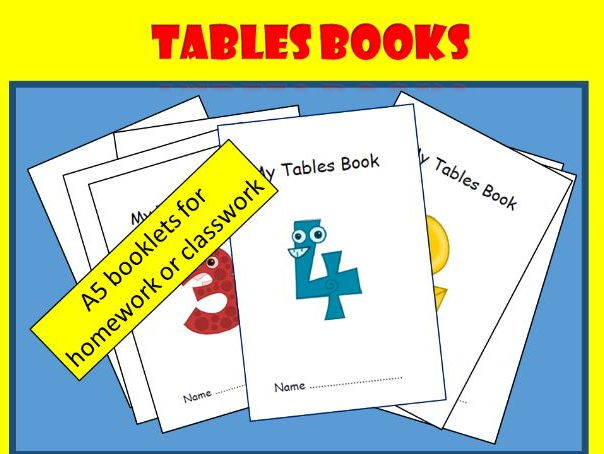 Tables Practice for KS1/2 Maths : set of booklets