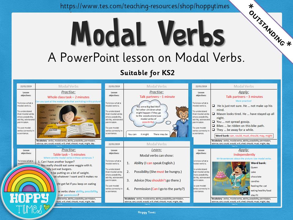 Outstanding MODAL VERBS Lesson KS2