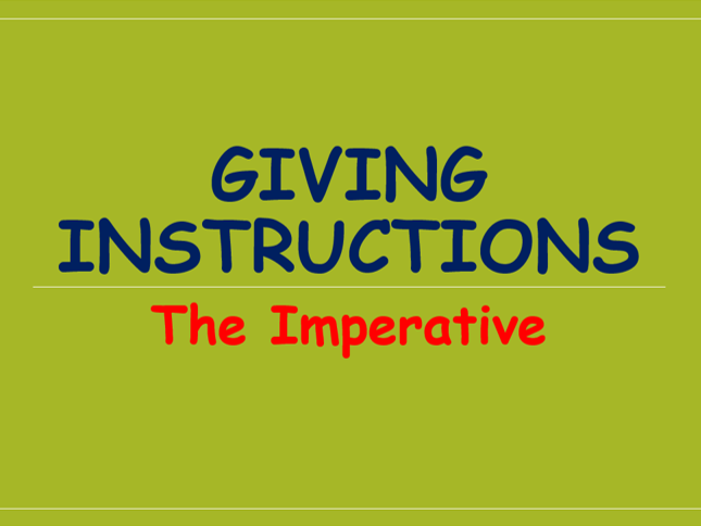 Imperative Verbs [Charlotte's Webb version] - FREE