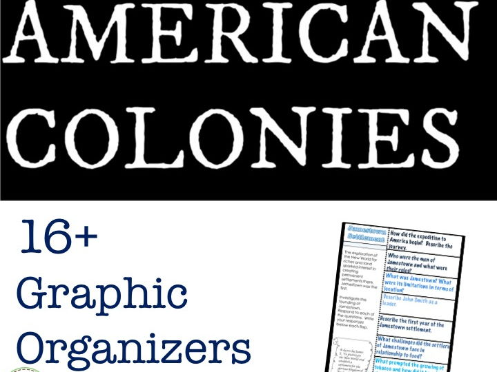 American Colonies Color Interactive Notebook Pages