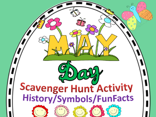 May Day scavenger Hunt Activity