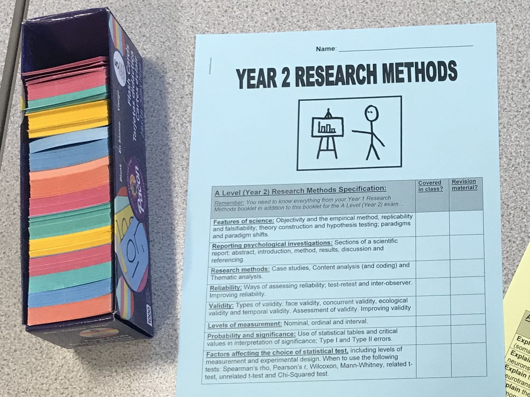 Research Methods (A Level/Year 2) Booklet