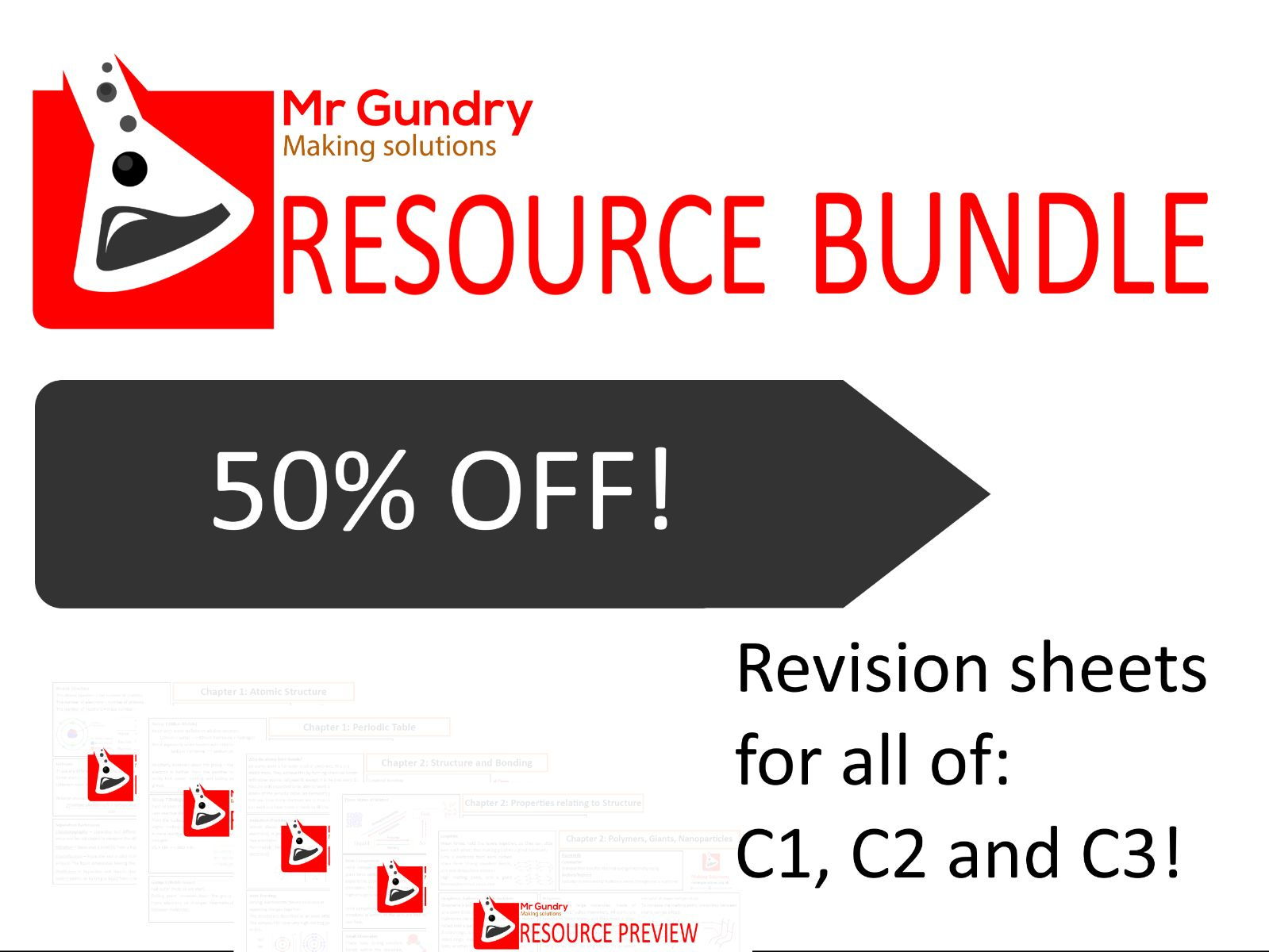 AQA Chemistry Core, Additional AND Triple Revision Bundle (All of C1, C2 and C3!)