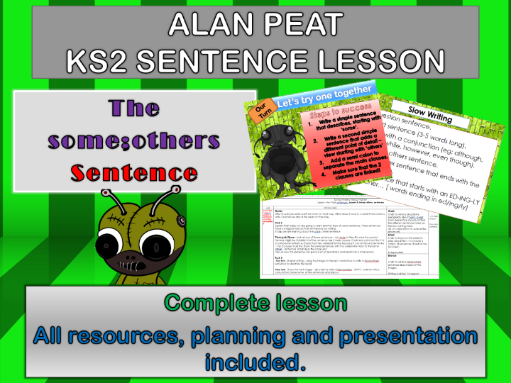 SOME;OTHERS SENTENCES COMPLETE LESSON (ALAN PEAT) KS2
