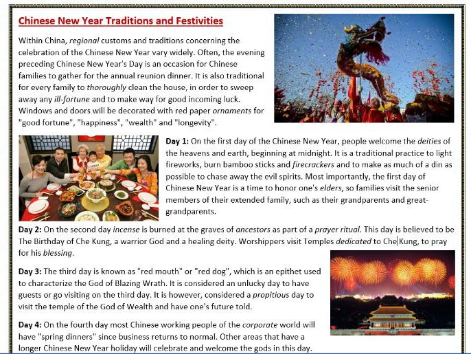 chinese new year traditions reading comprehension by mariapht teaching resources. Black Bedroom Furniture Sets. Home Design Ideas