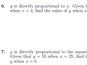 Direct and inverse proportion worksheets (with solutions)