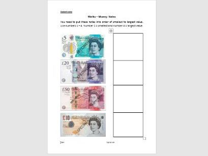 Recognising and ordering Money (Notes)