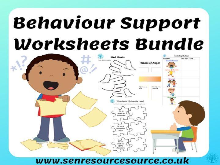 Behaviour Support Worksheet Bundle