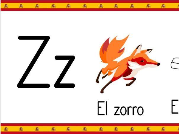 Spanish Alphabet Posters El Alfabeto