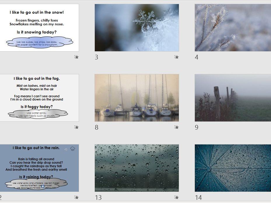 Weather Sensory Poem