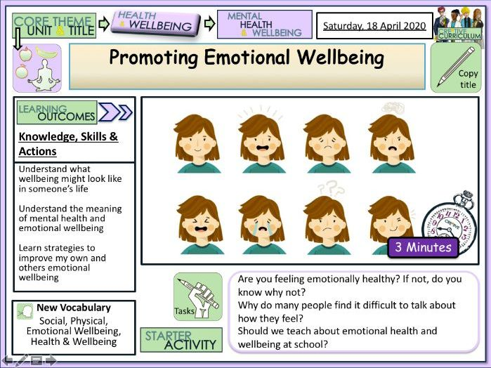 Emotional Wellbeing - PSHE