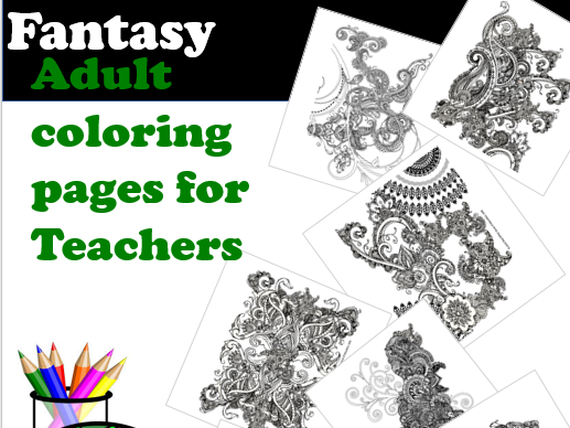 Fantasy Adult Coloring Pages for Teachers & students