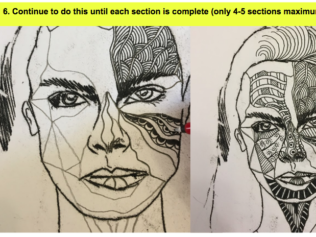 Zentangle Portrait KS3