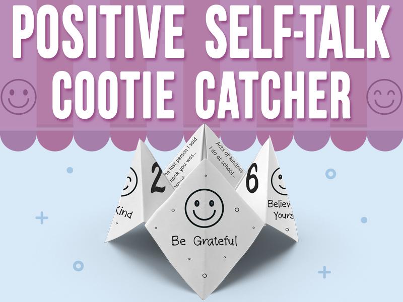 Positive Self-Talk Cootie Catcher with Emojis