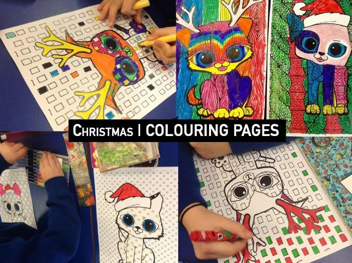 CHRISTMAS COLOUR THEORY   Colouring Pages