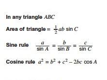 GCSE Trigonometry Formulas Memory Exercise