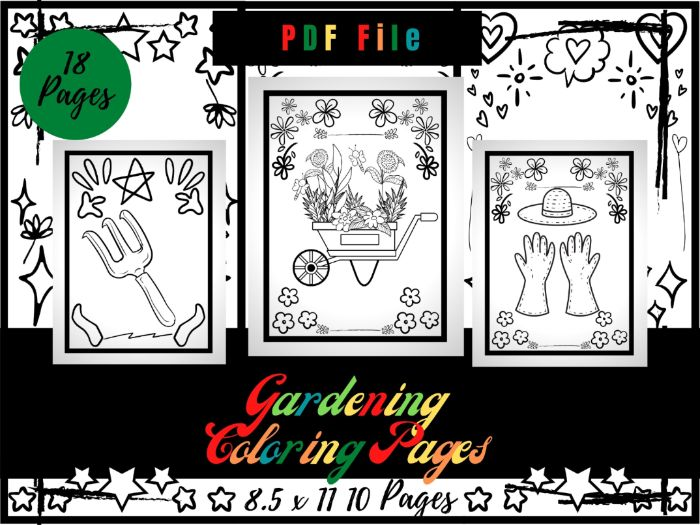 Gardening Colouring Pages For kids, Flowers & Garden Colouring Sheets PDF