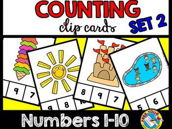 SUMMER KINDERGARTEN COUNTING CENTERS 1-10 (PREK SUMMER COUNTING ACTIVITIES)