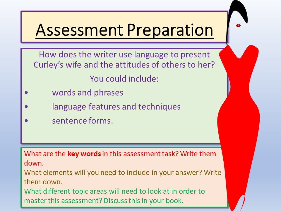 Of Mice and Men Assessment Preparation