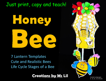 Bee Unit  ::  Honey Bee Life Cycle Activity  ::  Bee Craft