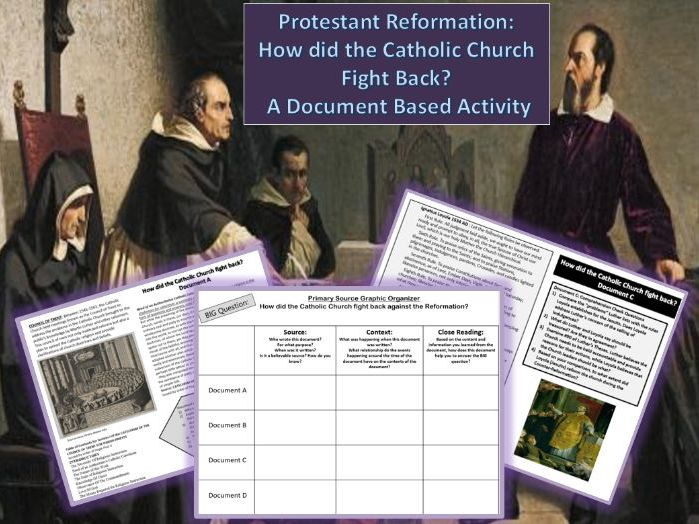 Reformation: The Catholic Church's Response ~A Document Based Activity~